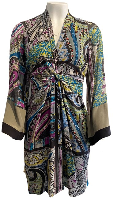 Item - Purple / Teal Paisley Short Night Out Dress Size 8 (M)