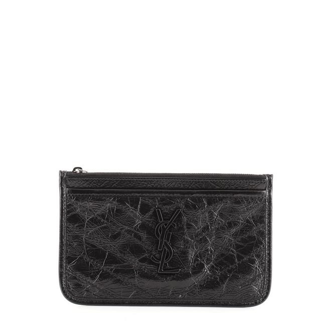 Item - Black Niki Bill Pouch Matelasse Chevron Leather Wallet