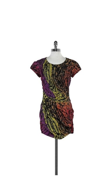 Item - Multi-color Dvf Erosa Short Cocktail Dress Size 2 (XS)