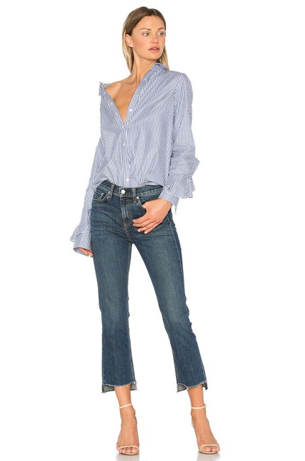 Item - Blue Medium Wash 10 Inch Stove Pipe Ryan Crop 28x27 Nwot A0 Capri/Cropped Jeans Size 28 (4, S)