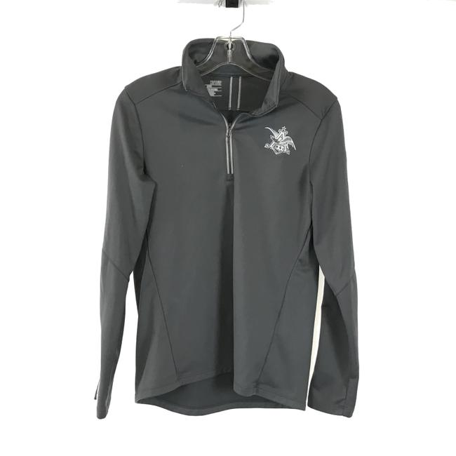 Under Armour Gray Anheuser Busch Beer Logo Activewear Outerwear Size 2 (XS) Under Armour Gray Anheuser Busch Beer Logo Activewear Outerwear Size 2 (XS) Image 1