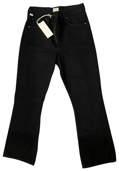 Item - Black Dark Rinse Estella High Ankle Flare Skinny Jeans Size 25 (2, XS)