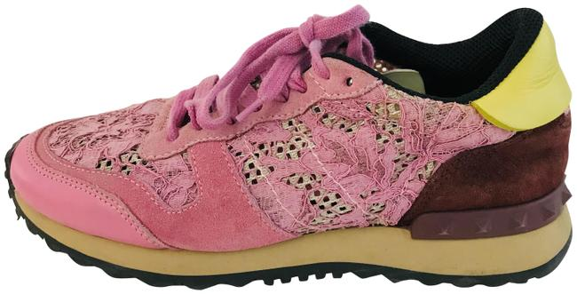 Item - Pink Lace Sneakers Size EU 36 (Approx. US 6) Regular (M, B)