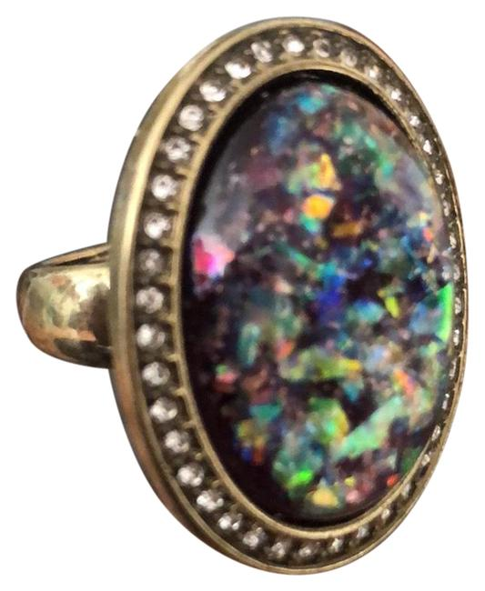 Item - Multicolor Glitter Cocktail Oval Ring