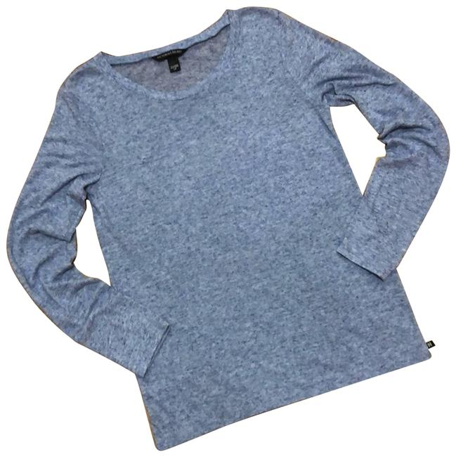 Item - Blue L Heathered Modal Slub Knit Long Sleeve Tee Shirt Size 12 (L)