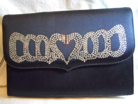 Ballin Crystal black Clutch