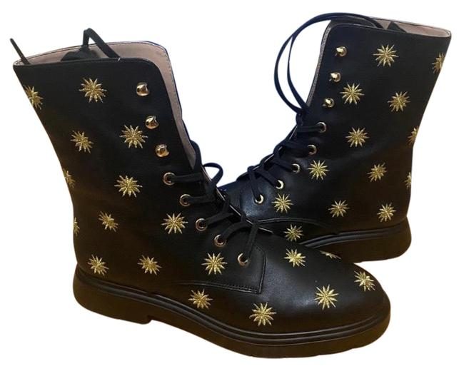 Item - Black with Gold Stars Leather Mckenzee Boots/Booties Size US 7.5 Regular (M, B)