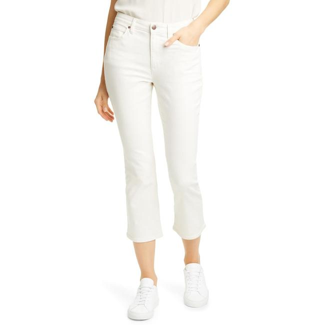 Item - Off-white Light Wash Stretch Cotton Crop Flare Leg Jeans Size 31 (6, M)
