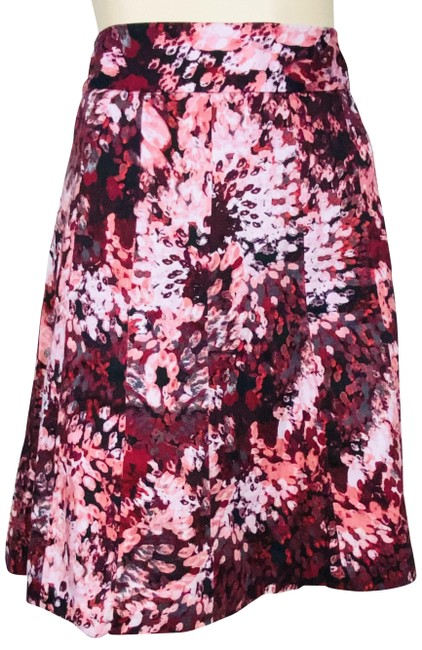 Item - Multicolor Abstract Print A Line Skirt Size 6 (S, 28)