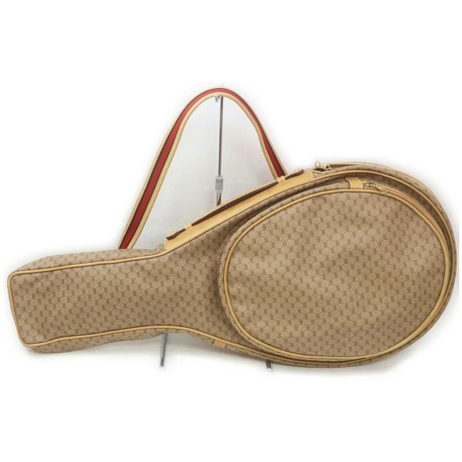 Item - Micro Gg Web Tennis Case 862759 Brown Coated Canvas Weekend/Travel Bag