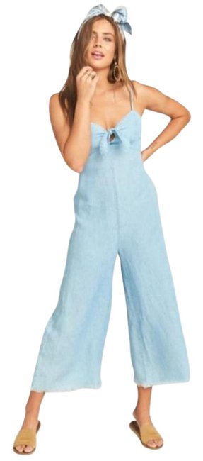 Item - Blue Paola Chambray Romper/Jumpsuit