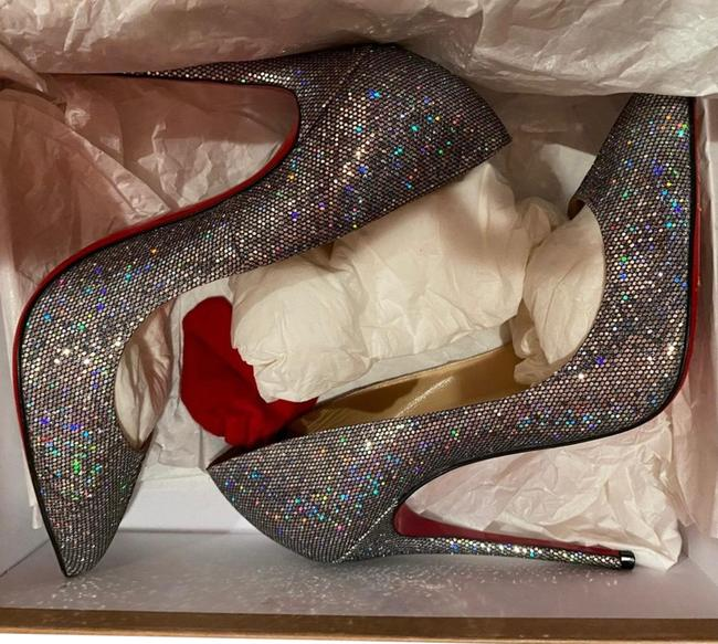 Item - Sparkly Silver Disco Ball Pigalle 120mm Platforms Size EU 38.5 (Approx. US 8.5) Regular (M, B)