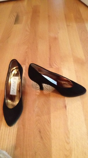 Joan & David Suede Hand Made Italy black Pumps