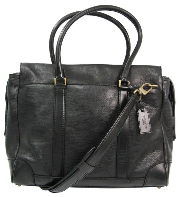 Item - Shoulder Box Rossby 70980 Men's Briefcase Black Leather Messenger Bag