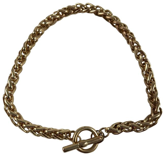 Item - Gold Thick T Clasp Choker Necklace