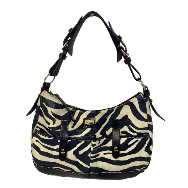 Item - Zebra Print Black/White Leather Hobo Bag