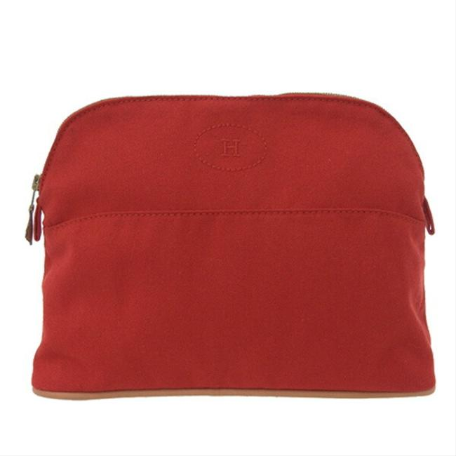Item - Bored Pouch 25 Red Color Cotton Clutch