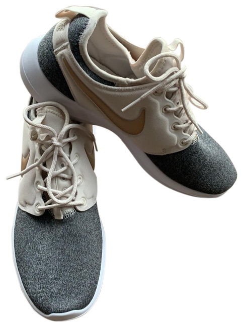 Item - Gray and Tan with Gold Symbol Sneakers Size US 9.5 Regular (M, B)