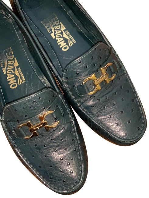 Item - Dark Green Saba Flats Size US 8.5 Regular (M, B)