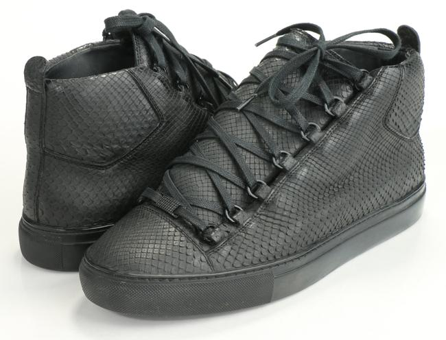 Item - Black Arena Python High-top Sneakers Shoes