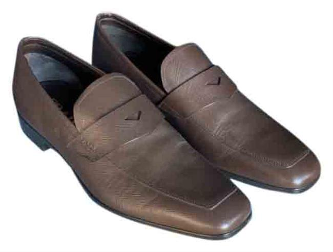 Item - Brown Saffiano Formal Shoes Size US 9 Regular (M, B)