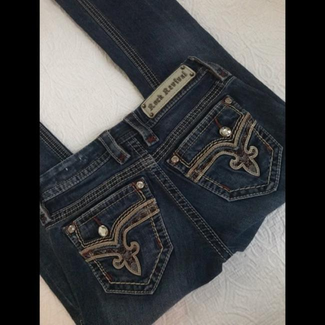 Rock Revival Blue Distressed Revival*betty*boot Jeans.25 Boot Cut Jeans Size 25 (2, XS) Rock Revival Blue Distressed Revival*betty*boot Jeans.25 Boot Cut Jeans Size 25 (2, XS) Image 2