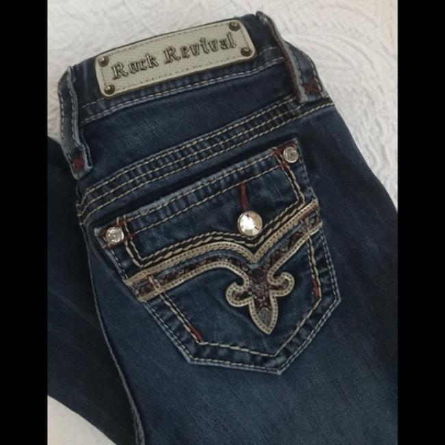 Rock Revival Blue Distressed Revival*betty*boot Jeans.25 Boot Cut Jeans Size 25 (2, XS) Rock Revival Blue Distressed Revival*betty*boot Jeans.25 Boot Cut Jeans Size 25 (2, XS) Image 3