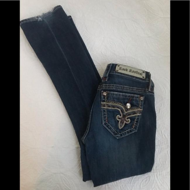 Rock Revival Blue Distressed Revival*betty*boot Jeans.25 Boot Cut Jeans Size 25 (2, XS) Rock Revival Blue Distressed Revival*betty*boot Jeans.25 Boot Cut Jeans Size 25 (2, XS) Image 4