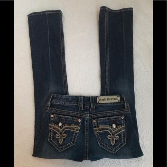 Rock Revival Blue Distressed Revival*betty*boot Jeans.25 Boot Cut Jeans Size 25 (2, XS) Rock Revival Blue Distressed Revival*betty*boot Jeans.25 Boot Cut Jeans Size 25 (2, XS) Image 6