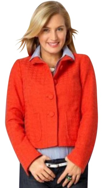 Item - Red Classic Fit Cotton Blazer Size 4 (S)