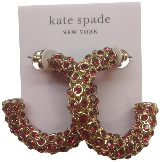Item - Red New and Gold Hoop Earrings