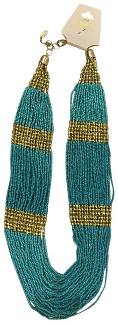 Item - Turquoise and Gold Necklace