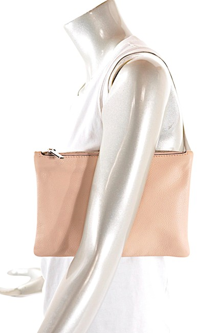 Item - W/Tags Nude Zippered Envelope Pale Pale Pink Leather Clutch
