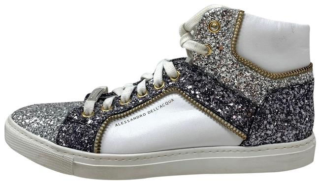 Item - Silver White Glitter Argento Sneakers Size EU 37 (Approx. US 7) Regular (M, B)