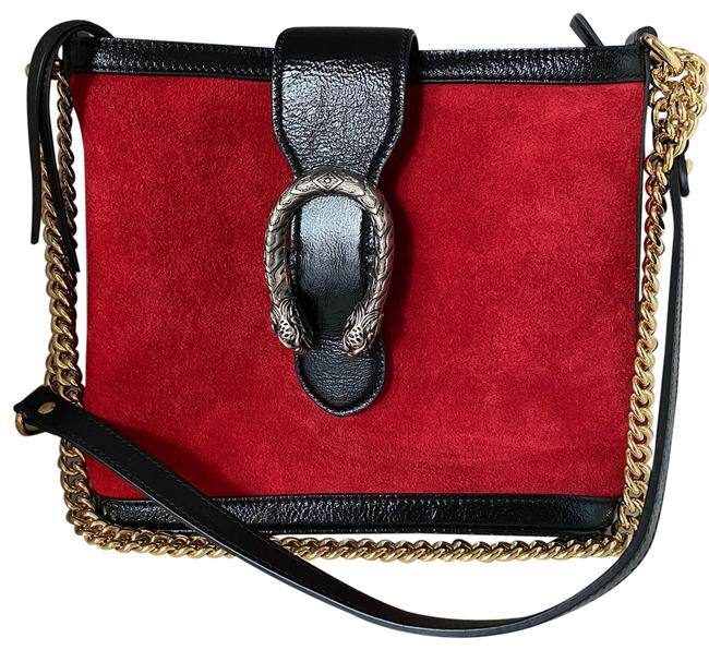 Item - Dionysus Bucket Red and Black Suede Leather Shoulder Bag