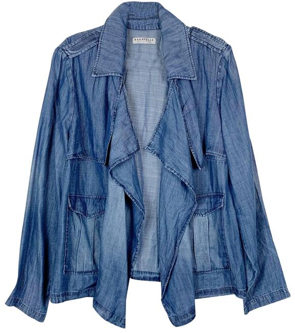Item - Blue Collection Chambray Denim Open Cardigan Blouse Size 20 (Plus 1x)