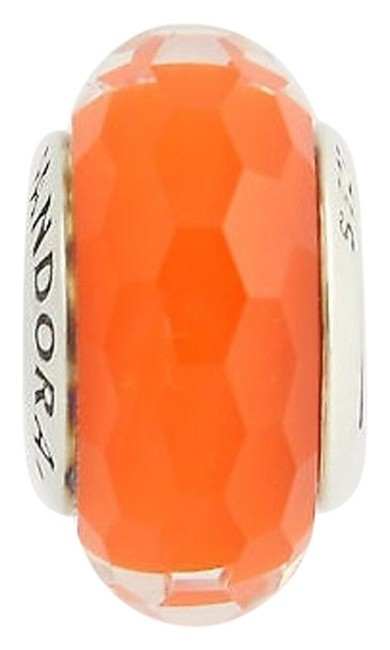 Item - Orange Facinating Murano Glass Fits Moments Bangle Charm