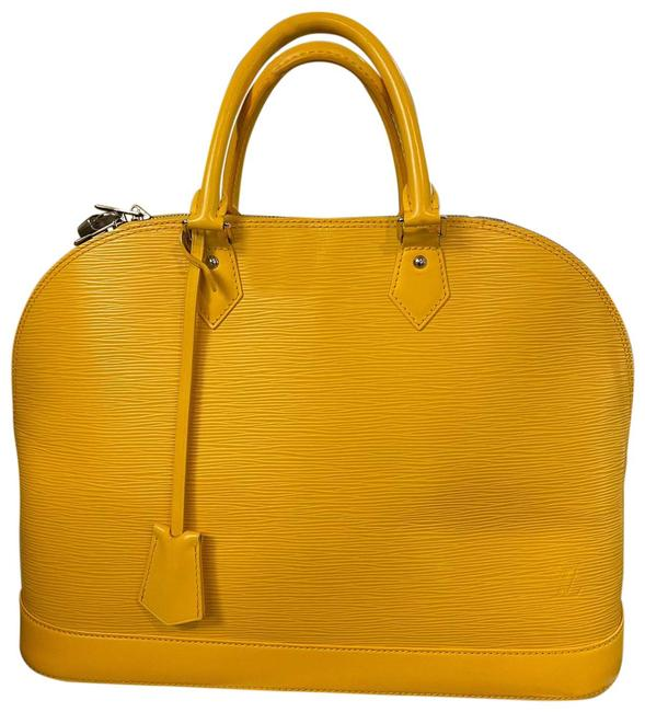 Item - Alma Bag Gm Yellow Leather Tote