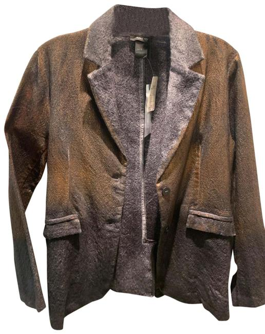 Item - Bronze Blueish Grey Ombre Two Tone Jacket Size 6 (S)