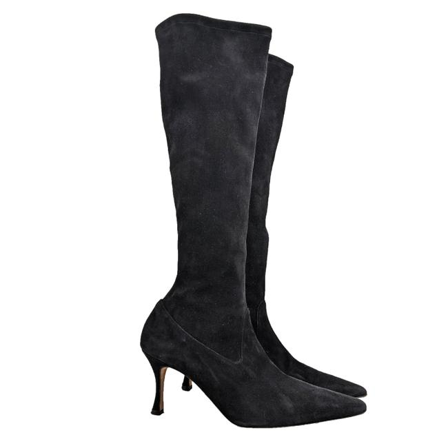 Item - Black Knee High Suede Boots Flats Size EU 38 (Approx. US 8) Narrow (Aa, N)