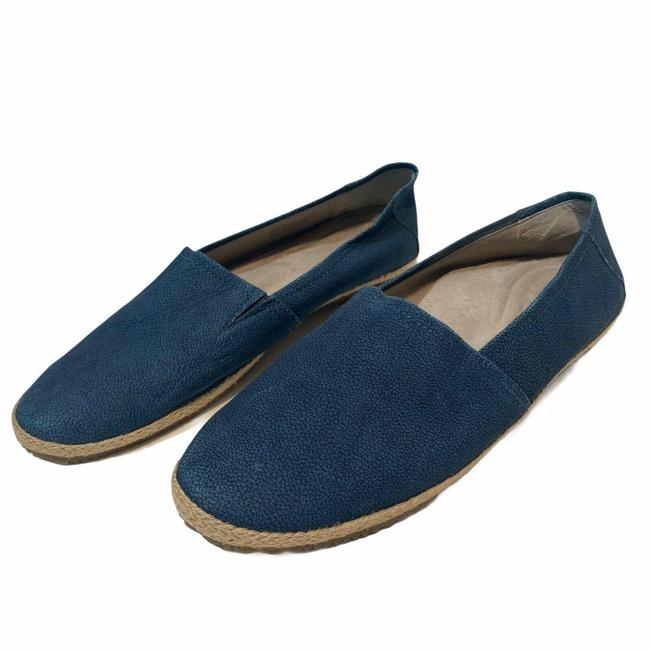 Item - Blue Slip On Leather Orthotic Flats Size US 9 Regular (M, B)