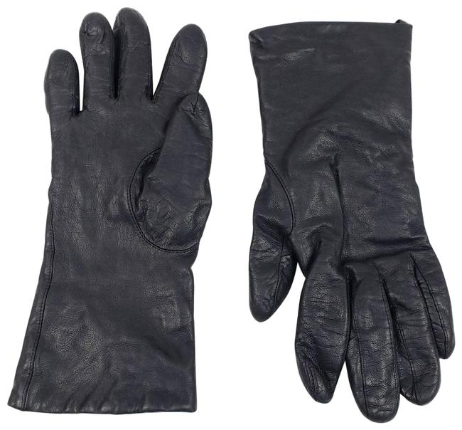 Item - Black Vintage Leather Gloves with Cashmere Lining Size 7