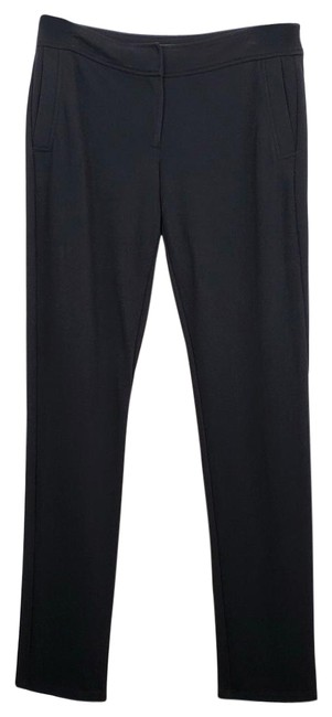 Item - Black Flat Front Viscose Blend Pants Size 4 (S, 27)