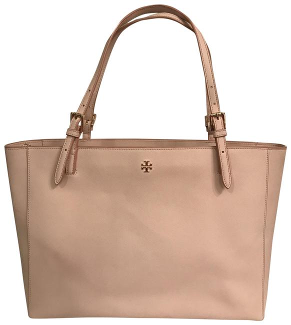 Item - Lg York Buckle Laptop Saffiano Blush Pink Gold Leather Tote