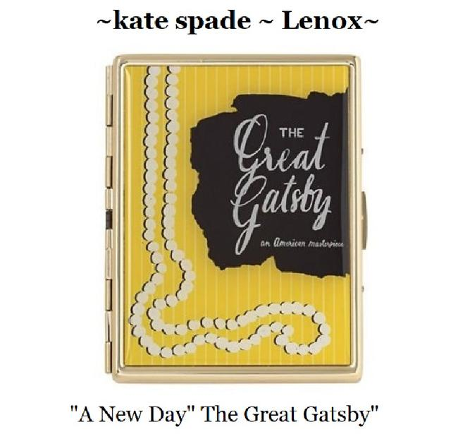 Item - ~lenox A New Day~great Gatsby~card Holder Gold/Yellow/Blk Plated Metal Wristlet