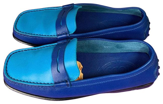 Item - Blue Loafers Used Flats Size US 7.5 Regular (M, B)