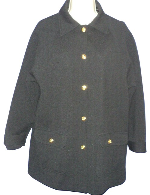 Item - Dark Navy-black Vintage Toggle Buttons Lined Jacket Size 6 (S)