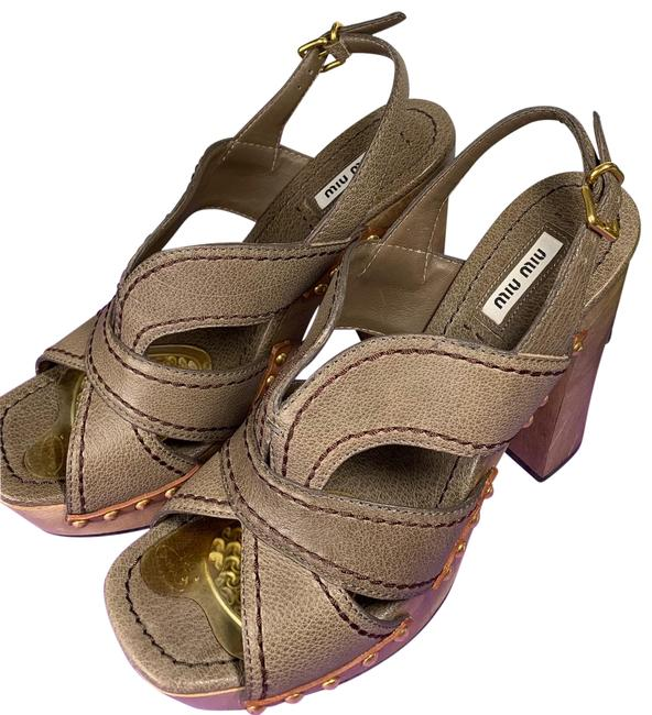 Item - Gray Brown Platforms Size US 9.5 Regular (M, B)