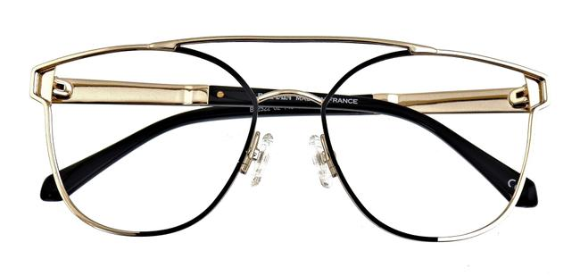 Item - Gold and Black Bl2522 02 62mm Frames Only Sunglasses