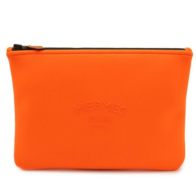 Item - Neovan Mm Second Black / Orange Polyamide Clutch
